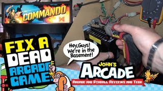 Download How to fix a dead arcade game #1 - Troubleshooting a Craigslist purchase - Data East Commando Video