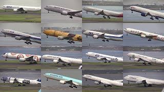Download 17/09/24 東京国際空港(羽田空港) 離陸シーン(Cラン) Take Off Scene of Various Airliners at Tokyo Int'l Airport, RJTT Video