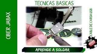 Download Aprende soldar con cautin, y reparar un cable de carga usb Video