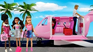 Download Barbie Stacie Airplane Travel Morning Routine - Packing Suitcase for School Trip! Video