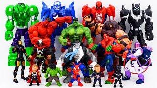 Download Power Rangers & Marvel Avengers Toys Pretend Play | Hulk & Spider Hulk vs Juggernaut Villains Army Video