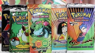 Download Opening 5 Rare Old School Pokemon Booster Packs!! Video