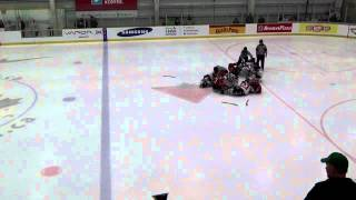Download Sledge Hockey - Fight when player shoots after the buzzer. Video