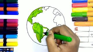 Download Learn How to Draw Earth and Stars | Teach Drawing for Kids and Toddlers Coloring Page Vide Video
