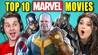Download COLLEGE KIDS REACT TO TOP 10 MARVEL MOVIES OF ALL TIME Video