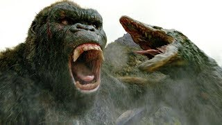 Download Kong vs Skull Crawler - Fight Scene - Kong: Skull Island (2017) Movie Clip HD Video