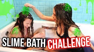 Download SLIME BATH CHALLENGE WITH MY LITTLE SISTER!! *HILARIOUS | Lovevie Video