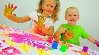 Download Играем вместе: пальчиковые краски. Детское творчество. Video