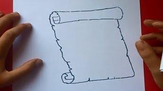 Download Como dibujar un pergamino paso a paso 2 | How to draw a scroll 2 Video