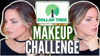 Download FULL FACE USING DOLLAR TREE MAKEUP CHALLENGE! $11.00 Makeup Tutorial | Casey Holmes Video