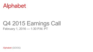 Download Alphabet Q4 2015 Earnings Call Video