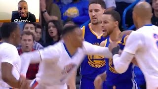 Download STEPHEN CURRY IS HOOD! 2 HANDED DUNK! HITS WESTBROOK IN THE FACE! TRIES TO FIGHT THUNDER TEAM! Video