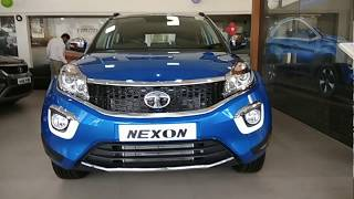 Download Nexon XZ+ Dual tone  Moroccan Blue   With fitted accessories   available at TATA Showroom. Video