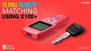 Download Verna 1 Button remote matching using X100+ Video