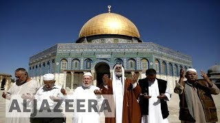 Download Palestinians celebrate removal of Israeli security at al-Aqsa Video