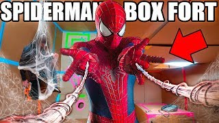 Download SPIDER MAN BOX FORT BASE!! 📦🕷 Spiderman Adventure, Nerf, Gadgets & More! Video