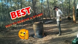 Download Tree Stump Burner, the easiest way to remove a stump. Video