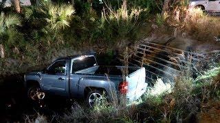 Download Truck Wrecks into a ditch doing a burnout... Video