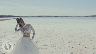 Download Romantic editorial magazine gown shoot on salt flats Video