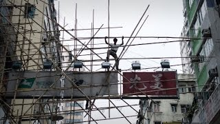 Download Hong Kong's death defying bamboo scaffolding Video