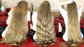 Download RealRapunzels | Super Long Blonde Curly Hair Video