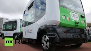 Download Robot Shuttle: Japan's first driverless bus to begin service in Chiba Video