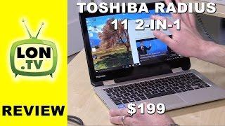 Download Toshiba Satellite Radius 11 2-in-1 Windows Laptop Review - L10W-CBT2N01 Video