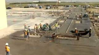 Download Construction Accident - Concrete motor trowel gone wild at a construction site.flv Video