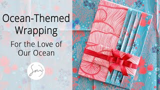 Download Elegant Gift Wrapping with Beautiful Underwater Flora Paper! Video