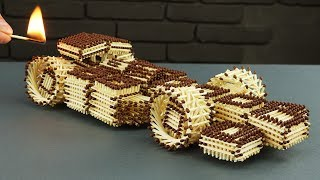 Download How to Make Amazing F1 Racing Car from Matches Without Glue Video