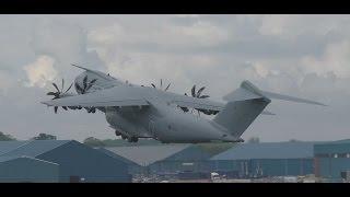 Download *Rare* RAF A400M Takeoff at Prestwick Airport Video