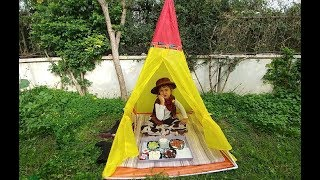 Download KOVBOY ELİF BAHÇEDE PİKNİK YAPIYOR.Eğlenceli çocuk videosu, oyun evi çadır Video