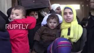 Download Syria: Liberated eastern Aleppo residents board buses to humanitarian centres Video