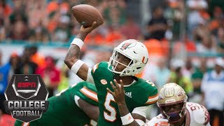 Download Miami rallies to beat Florida State behind N'Kosi Perry's 4 touchdowns   CFB Highlights Video