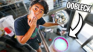 Download Giant Aluminum Ball Vs Oobleck from 250cm! Video