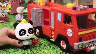 Download Super Panda Rescue Team | Fight against Bad Dinosaur | Kids Toy Story | ToyBus Video