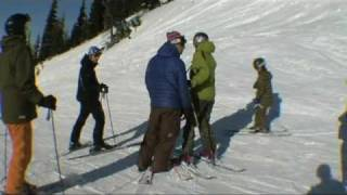 Download Angry skier dad tries to fight snowboarders Video