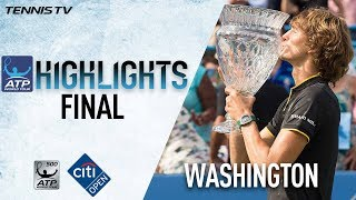 Download Highlights: Zverev Beats Anderson For Citi Open Title Washington 2017 Video