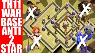 Download TH11 WAR BASE + REPLAYS| ANTI 2 STAR STRATEGIES | CLASH OF CLANS 2017 Video