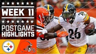 Download Steelers vs. Browns | NFL Week 11 Game Highlights Video