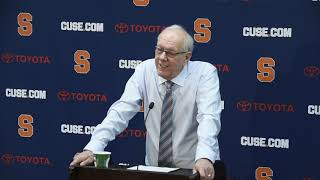 Download Jim Boeheim postgame news conference after Syracuse basketball vs. Pittsburgh (2019) Video
