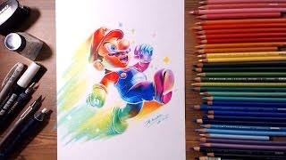 Download Super Mario スーパーマリオ(Rainbow Mario) Speed drawing Video