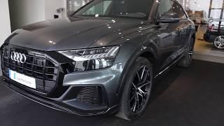 Download Monster Daytona grey Audi Q8 with black optic(light show,start up, reversing, walkaround) Video