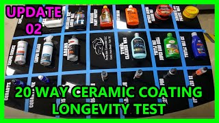 Download UPDATE 02: 20 way Ceramic coating synthetic wax longevity test Perfection Correction LLC Video