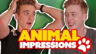 Download ANIMAL IMPRESSIONS CHALLENGE!! ft Joe Sugg Video