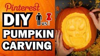 Download DIY Pumpkin Carving Contest - Man Vs Corinne Vs Pin Video