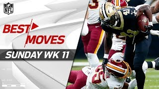Download Best Moves from Sunday: Jukes, Spins, Stiff Arms & More! | NFL Week 11 Highlights Video