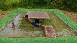 Download Unbelievable! Build Swimming Pool Around Secret Underground House Video