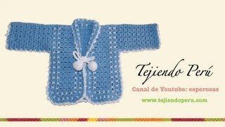Download Ropón o chaqueta para bebé en crochet (Parte 1) - Tejiendo Perú Video