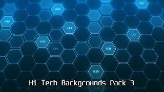 Download Hi Tech Backgrounds Pack 3 - Hexagon Patterns Video